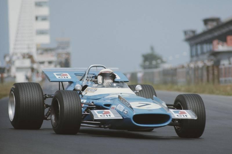 Jackie Stewart in his Matra at the 2969 German Grand Prix