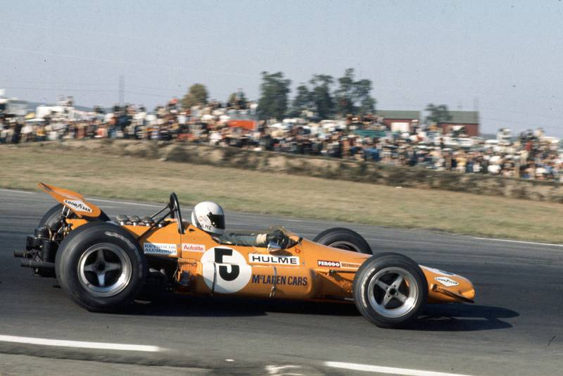 Denny Hulme driving for McLaren at the 1969 United States Grand Prix