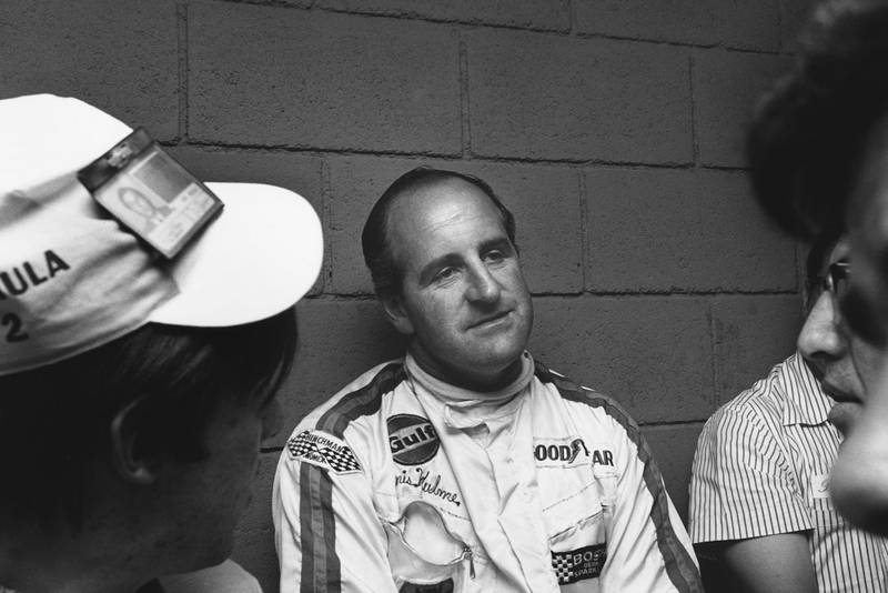 Denny Hulme recuperates after winning the 1969 Mexican Grand Prix