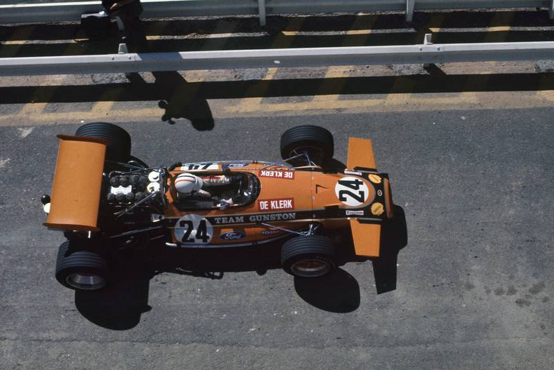 Peter Klerk in his Brabham at the South African Grand Prix