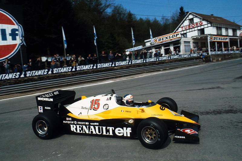 Alain Prost in a Renault RE40 took pole and went on to win the race.