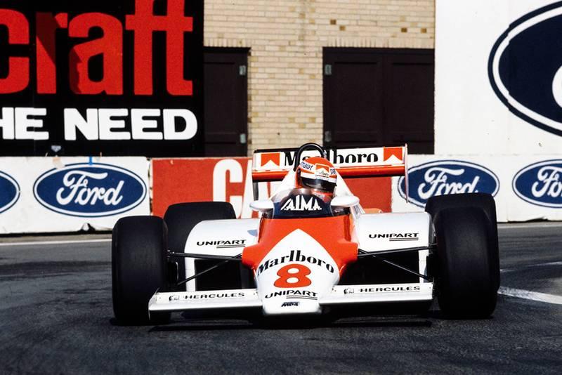 Niki Lauda in his McLaren MP4-1C Ford.