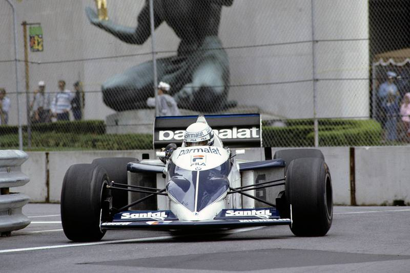 Riccardo Patrese in his Brabham BT52 BMW.