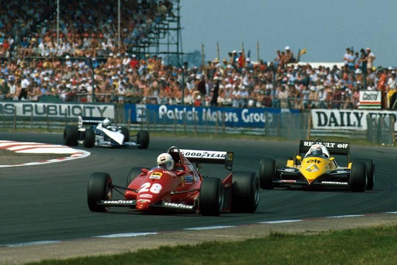 Rene Arnoux, followed by Alain Prost.