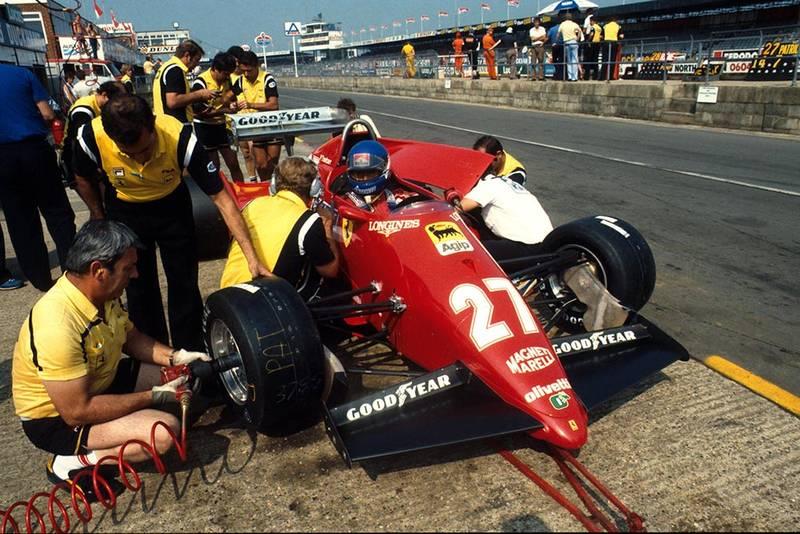 Patrick Tambay's Ferrari 126C3 in the pits.