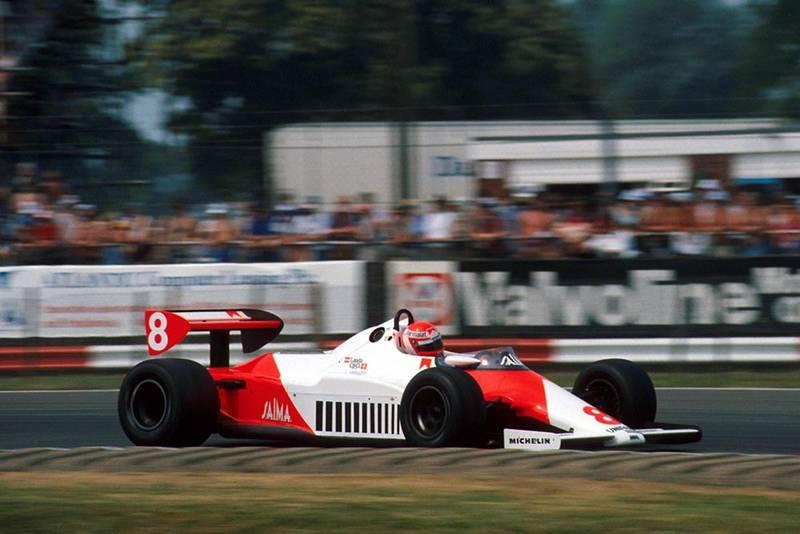 Niki Lauda in his McLaren MP4/1C.
