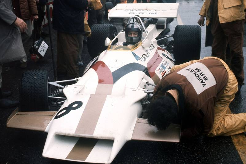 Pedro Rodriguez sits in his BRM at the 1971 Dutch Grand Prix.
