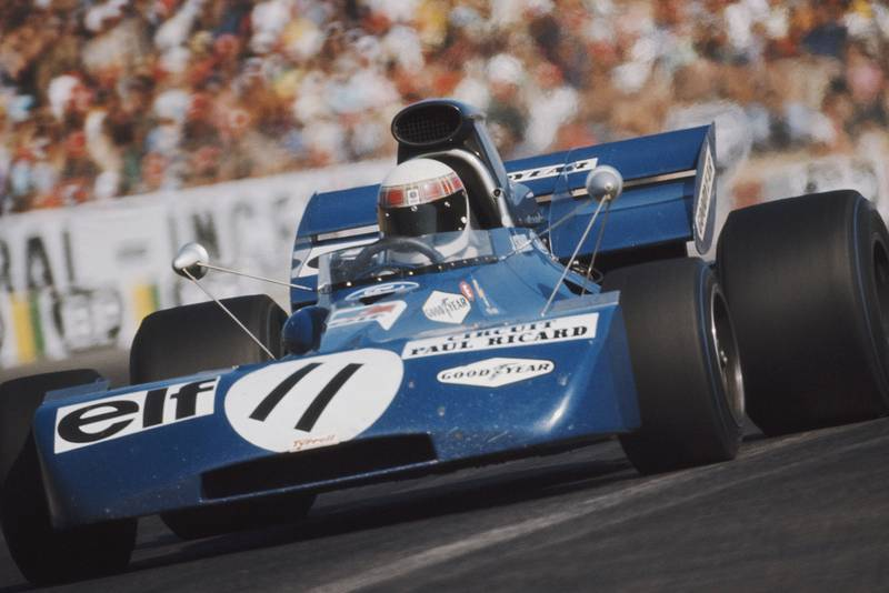 Jackie Stewart driving for Tyrell at the 1971 French Grand Prix.