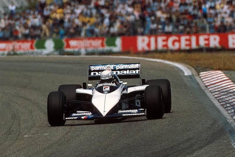 Riccardo Patrese in his Brabham BMW BT52.