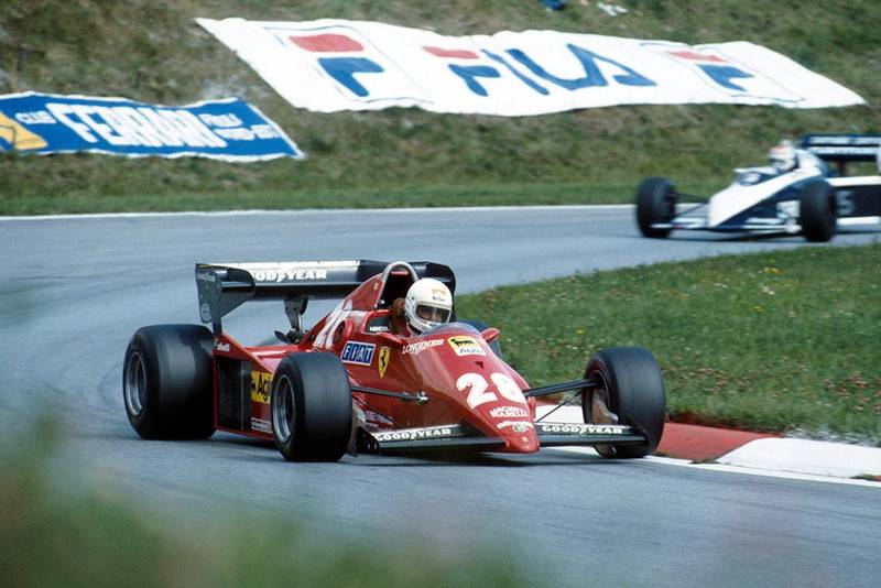 Rene Arnoux in his Ferrari 126C3.