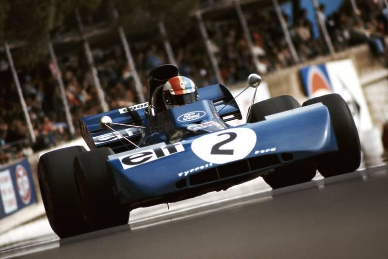 Francois Cevert in his Tyrrell at the 1972 Monaco Grand Prix.