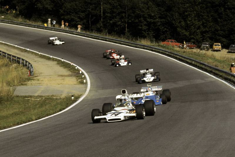 Peter Revson driving for McLaren at the 1972 Austrian Grand Prix.
