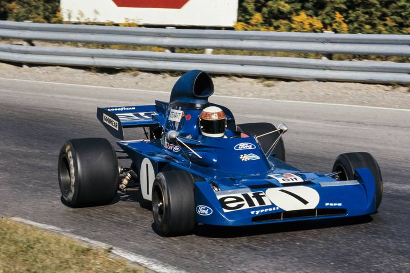 Jackie Stewart driving for Tyrrell at the 1972 Canadian Grand Prix