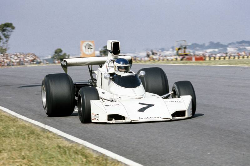 Carlos Reutemann driving for Brabham at the 1974 Argentine Grand Prix.