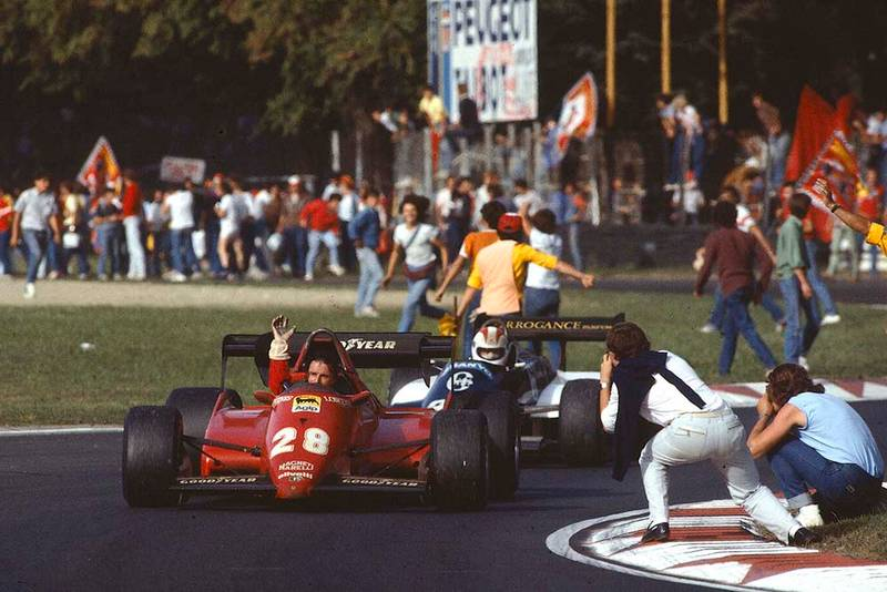 Rene Arnoux, finished 2nd in his Ferrari 126C3.