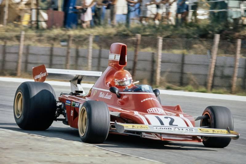 Niki Lauda driving for Ferrari at the 1974 South African Grand Prix.