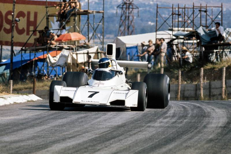 Carlos Reutemann driving for Brabham at the 1974 South African Grand Prix, Kyalami.
