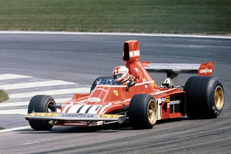 Clay Regazzoni driving for Ferrari at the 1974 Belgian Grand Prix, Zolder.