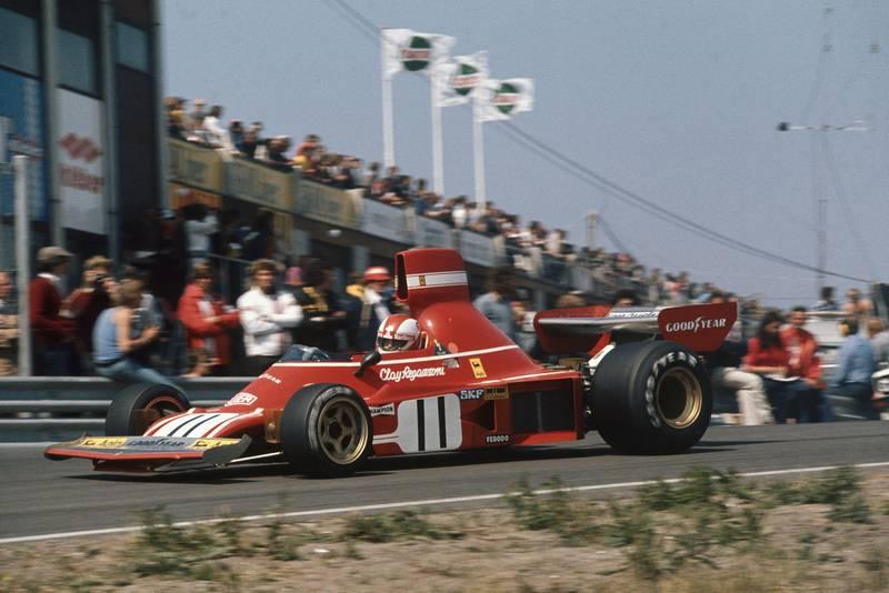 Clay Regazzoni (Ferrari) at the 1974 Dutch Grand Prix.