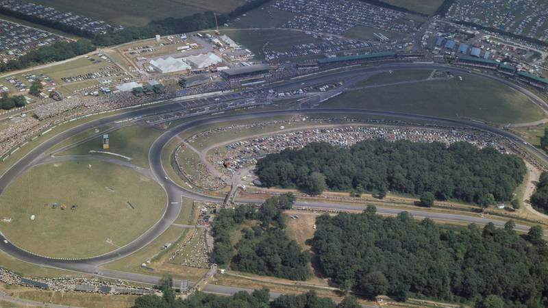 Overhead shot of Brands Hatch on the day of the 1970 Formula 1 British Grand Prix