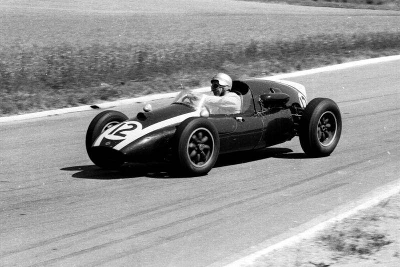 Bruce McLaren at the wheel of his Cooper T45 Climax.