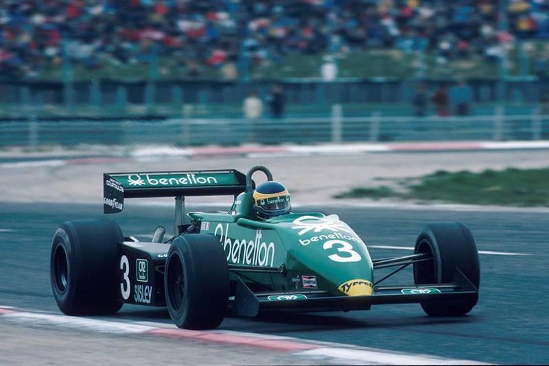 Michele Alboreto in his Tyrrell 011.