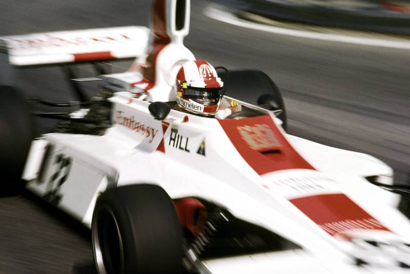 Rolf Stommelen (Embassy) at the 1975 Spanish Grand Prix, Montjuïc Park.