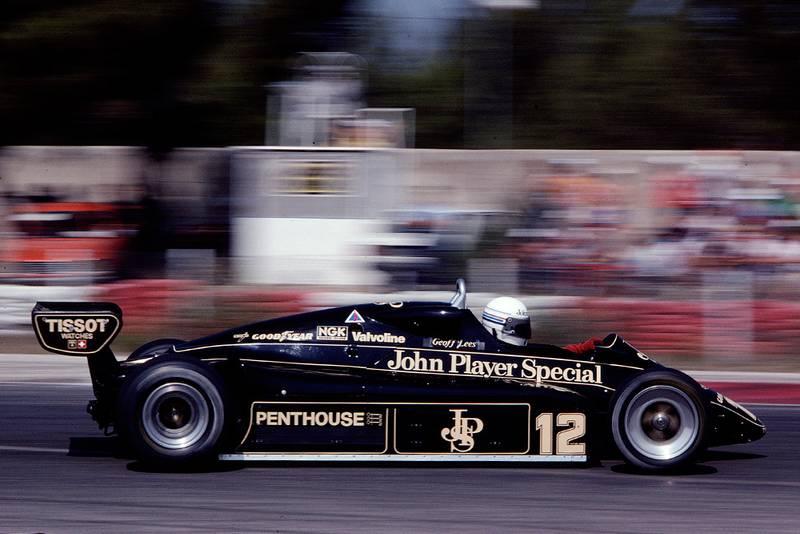 Geoff Lees in a Lotus 91 Ford.