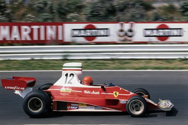 Niki Lauda (Ferrari) at the 1975 German Grand Prix, Nurbrugring