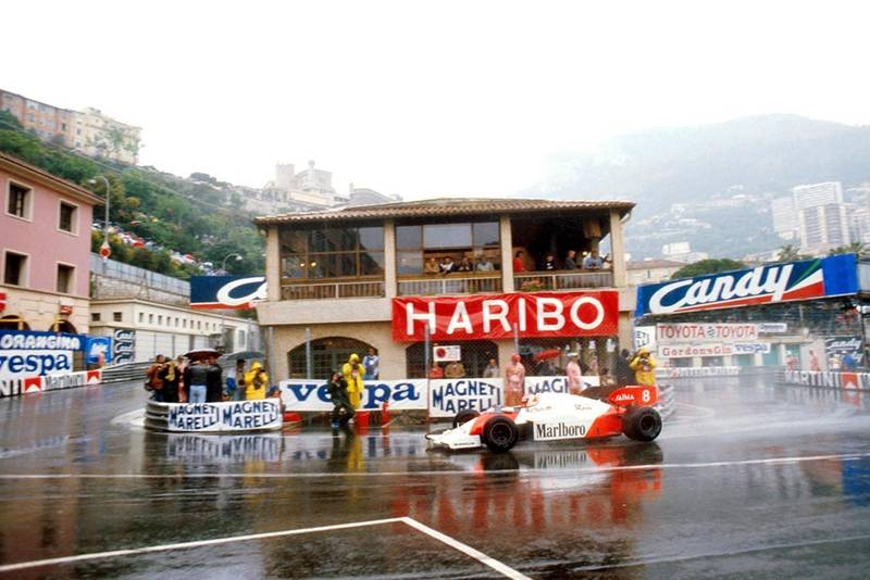 Niki Lauda in his McLaren MP4/2, he did not finish.