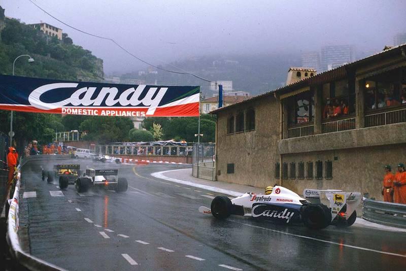 Ayrton Senna at Rascasse in his Toleman TG184 Hart.