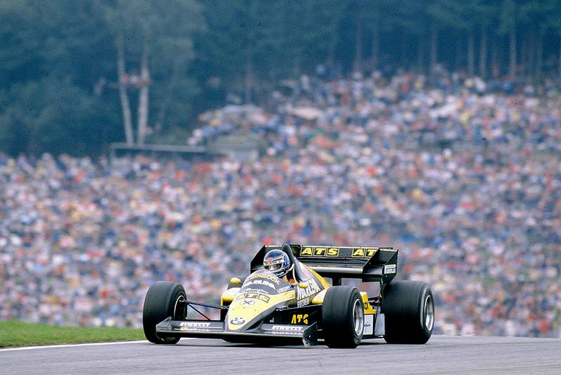 Gerhard Berger driving his ATS D7 BMW.
