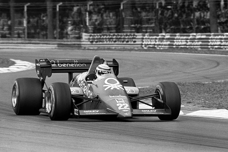 Riccardo Patrese in his Alfa Romeo 184T, finished third.