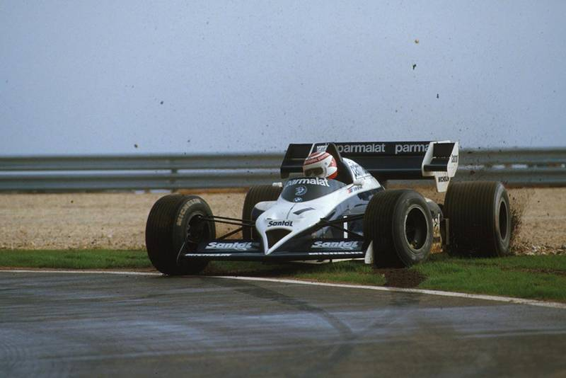 Nelson Piquet recovers from a spin in his Brabham BT53.