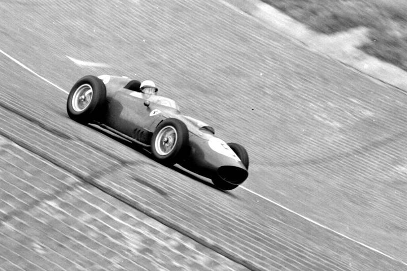 Phil Hill pilots his Ferrari Dino 246.