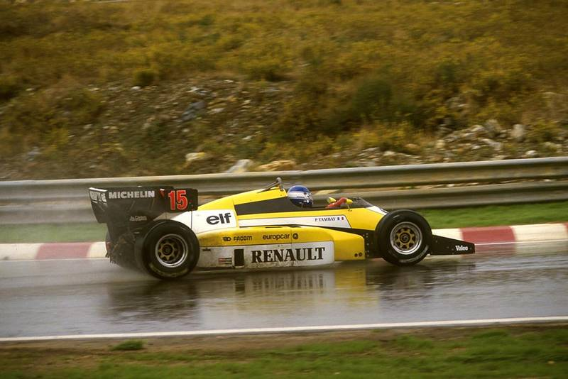 Pactrick Tambay driving his Renault RE60.