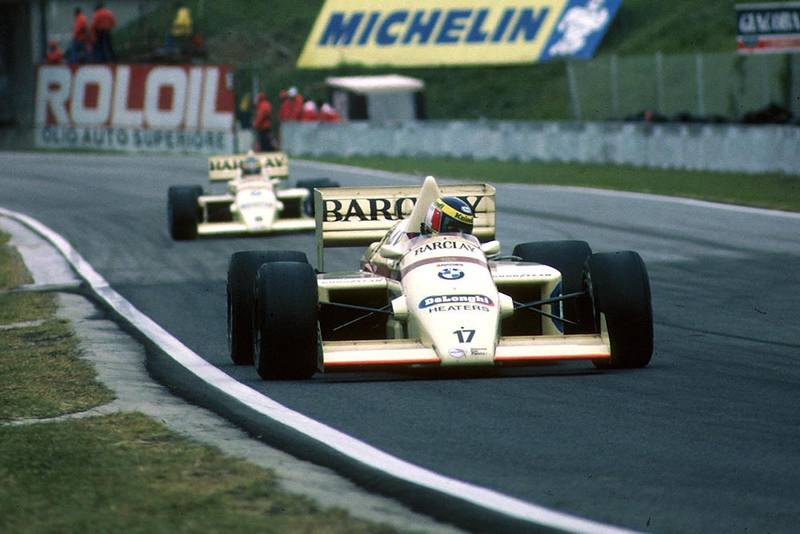 Gerhard Berger at the wheel of his Arrows A8.