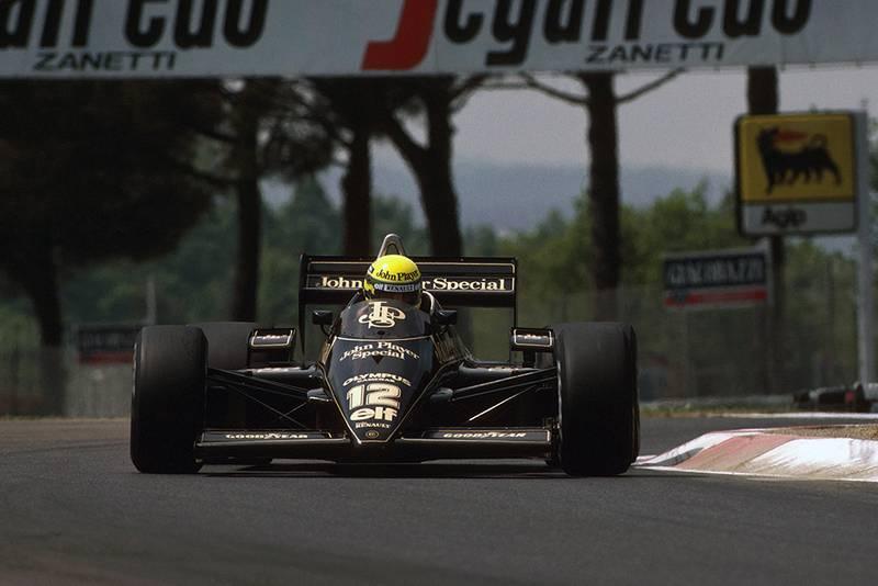 Ayrton Senna in his Lotus 97T.