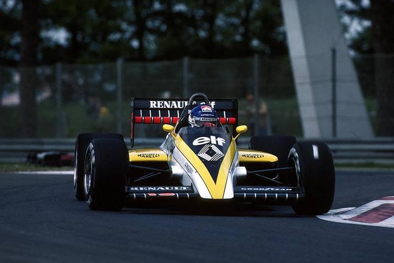 Patrick Tambay driving his Renault RE60.