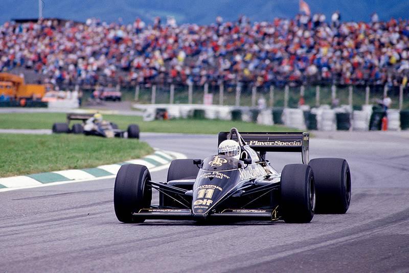 Elio de Angelis in his Lotus 97T Renault.