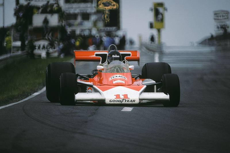 James Hunt (Mclaren) at the 1976 German Grand Prix, Nürburgring.