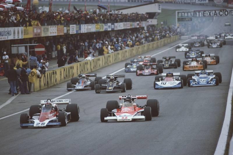 The 1976 Austrian Grand Prix gets underway, Österreichring.