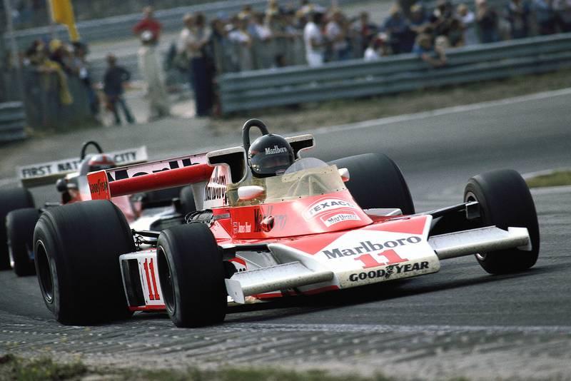 James Hunt (McLaren) at the 1976 Dutch Grand Prix, Zandvoort.