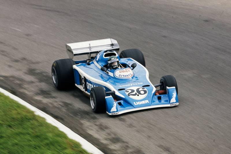 Jacques Laffite in his Ligier at the 1976 Italian Grand Prix, Monza