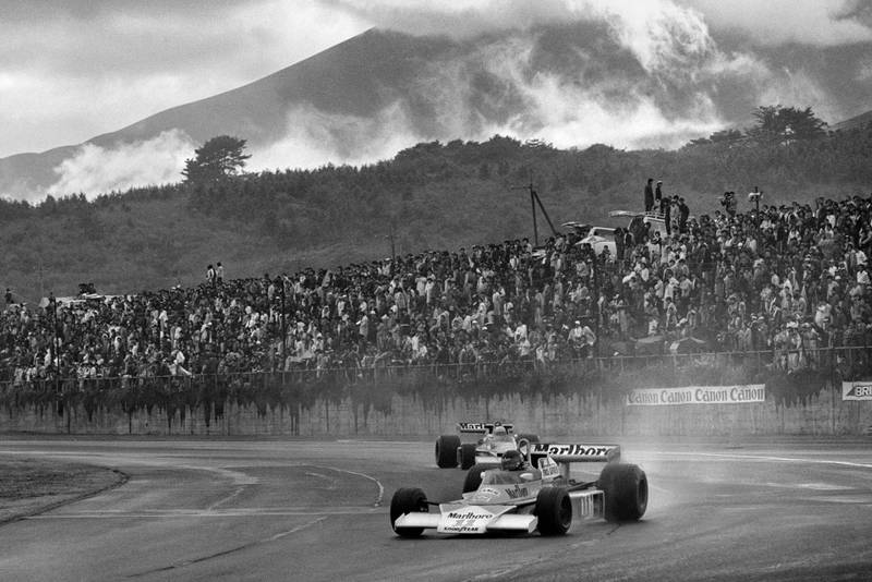1976 Japanese GP action