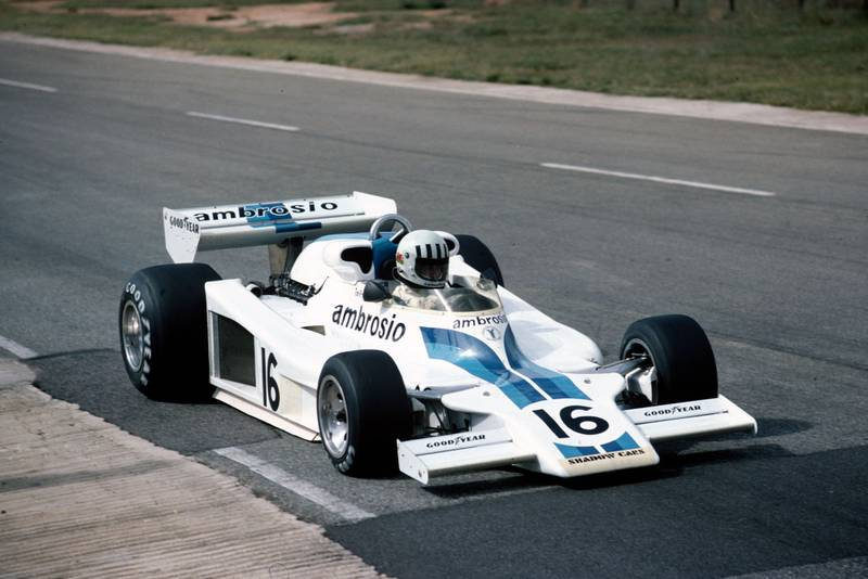 Tom Pryce (Shadow) at the 1977 South African Gran Prix, Kyalami.