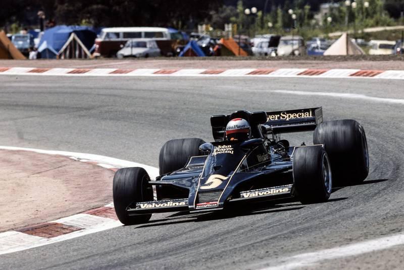Mario Andretti (Lotus) at the 1977 Spanish Grand Prix, Jarama.
