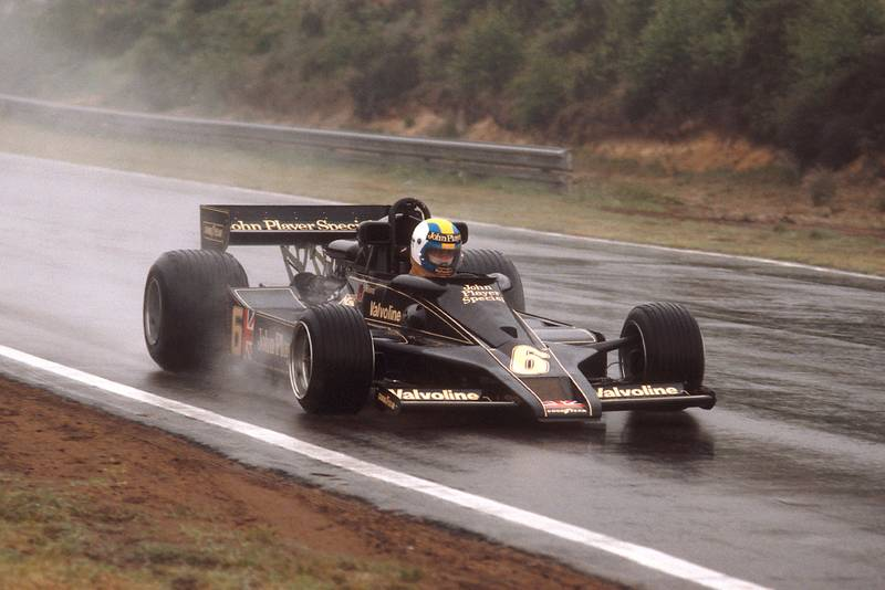 Gunnar Nilsson (Lotus) at the 1977 Belgian Grand Prix, Zolder.