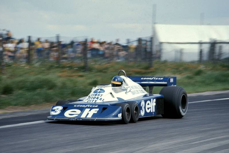 Ronnie Peterson (Tyrrell) at the 1977 Swedish Grand Prix, Anderstorp.