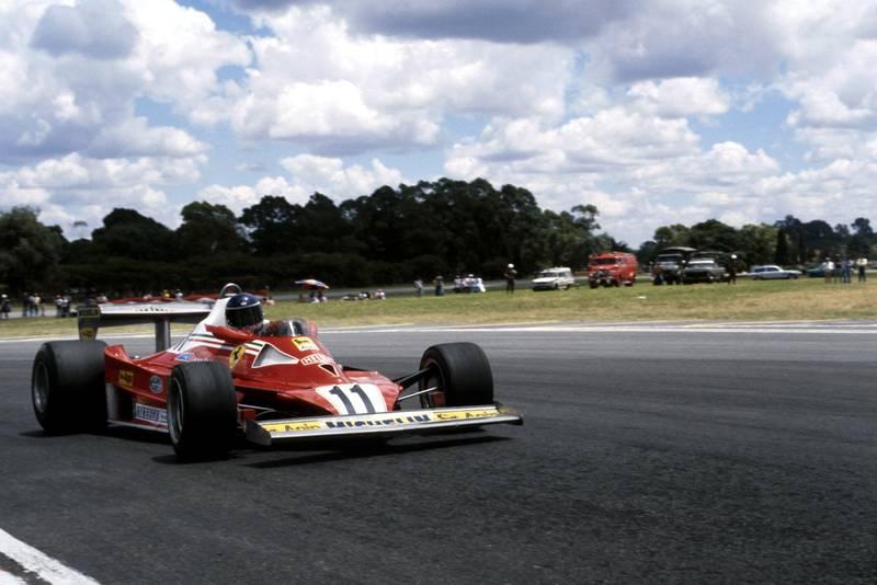 Carlos Reutemann (Ferrari) driving at the 1978 Argentine Grand Prix, Buenos Aires.